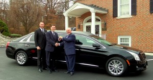 Center: Steve Sherman, President of Lupton Chapel, St. Louis, MO and Josh Liley, Funeral Director.